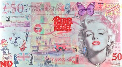 Rebel Rebel by Diederik Van Apple - Mixed Media on Aluminium